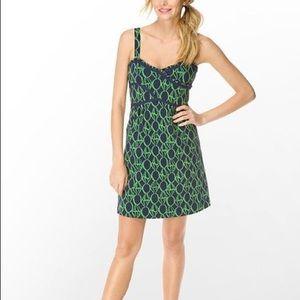 Lilly Pulitzer Vanessa Navy Ring Pop Dress Size 4